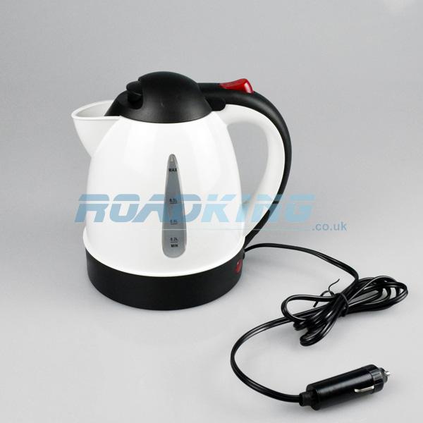 0 8 Litre Kettle With Plug White 12v Roadking Co Uk